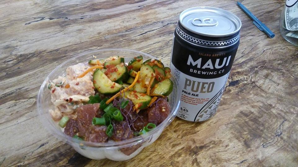 Poke and Maui Beer